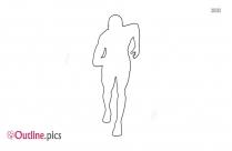 Athlete Running Outline