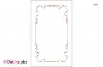 Bone Border Outline Design