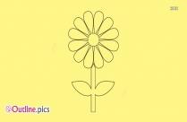 Outline Of Sunflower