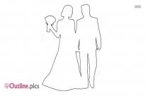 cartoon couple kissing outline image