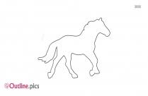 Horse Running Outline