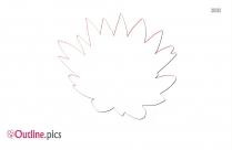 Summer Flower Clip Art Outline