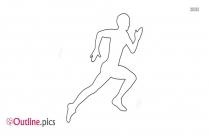 Male Athlete Running Outline
