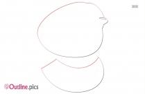 Papaya Clipart Pencil Outline