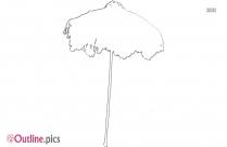 Parasol Umbrella Outline Drawing
