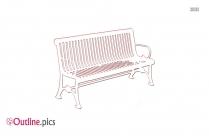Park Bench Outline Design