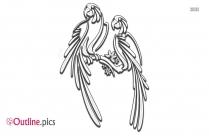 Parrot Outline Sketch