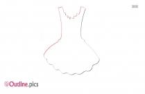 Party Dress Outline Clipart