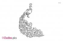 Cartoon Bird Outline Image