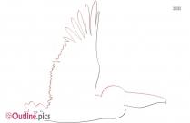 Outline Of Cartoon Bird