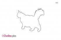 Siamese Cat Outline