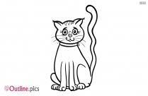 Cartoon Cat Outline Image