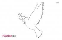 Pigeon With Olive Leaf Outline