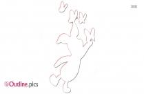 Piglet Character Outline Design