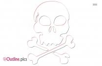 Pirate Skull Clip Art Outline Image