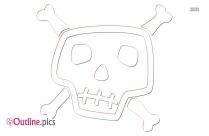 Cartoon Skull Head Outline