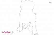 Angry Dog Outline Image