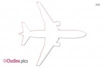 Plane Clip Art Outline