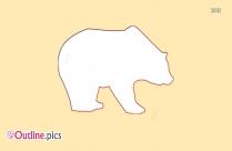 Polar Bear Outline Drawing