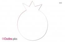 Pomegranate Flower  Clipart Outline Image