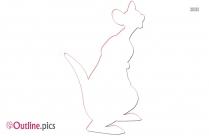 Pooh Kanga Outline Free Vector Art
