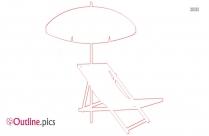 Pool Shade Umbrella Outline Free Vector Art