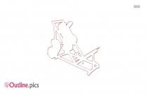 Power Squat Machine Outline Image