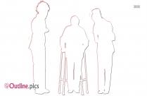 Practice Patient For Walking Outline
