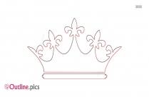 Queen Crown Outline Vector