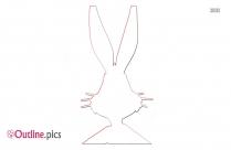 Rabbit Head Outline Art