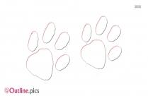 Raccoon Footprints Outline Background