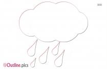 Rainy Cloud Outline Image