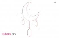 Ramadan Moon And Star Outline