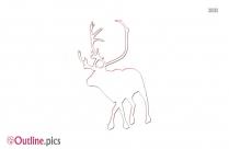 Reindeer Background Outline Image