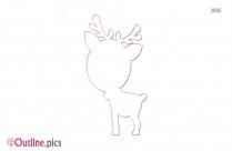 Reindeer Cute Baby Outline Image
