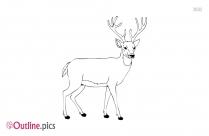 Reindeer Outline Sketch