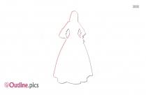 Renaissance Fashion Clipart || Baroque Renaissance Gown Outline Image