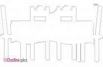 Restaurant Table Outline Sketch