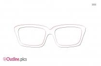 Retro Eyeglasses Outline Free Vector Art