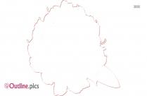 Blowing Dandelion Outline Illustration