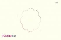 Round Flower Outline