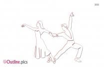 Rumba Dance Outline Drawing