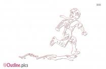 Run Away Outline Image