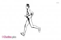 Running Boy Outline Vector