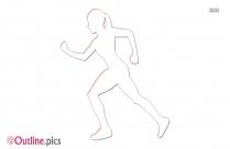 Running Girl Outline Image