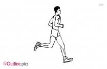 Runner Outline Drawing