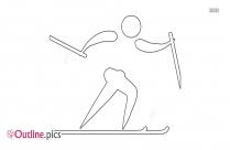 Girl Running Outline Vector