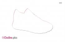Running Shoe Outline Clipart