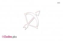 Sagittarius Icon Outline