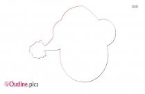 Santa Hat Outline Image
